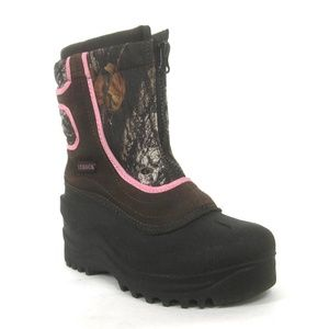 Itasca Girls Snow Stomper Winter Boots Pink Camo